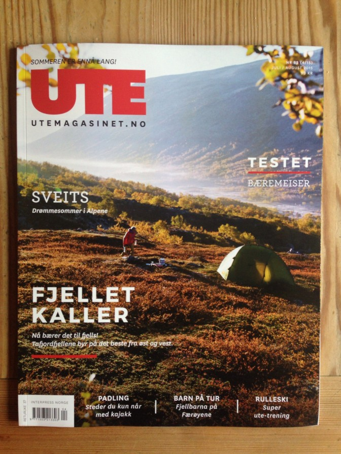Heldige meg! Ett av bildene mine havnet på coveret av UTEmagasinet.